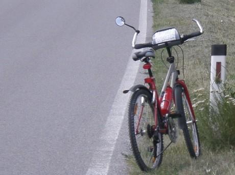 Zrkadlo na bicykli