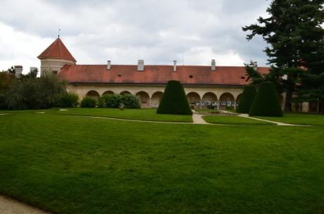 Zahrada zámku v Telči