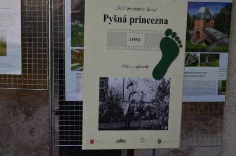 Pyšná princezna se natáčela taky v zahradě zámku Telč