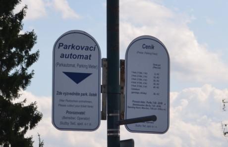 Ceny parkování v centru Telče